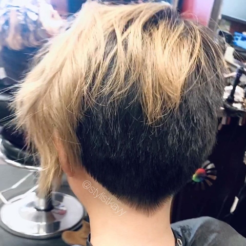 pixie point cut by kay