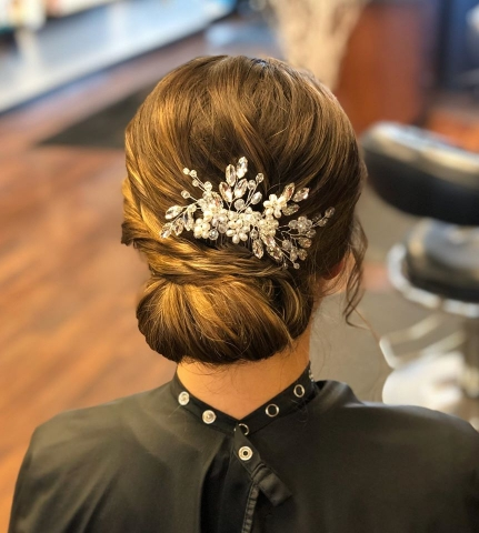 wedding updo by kay